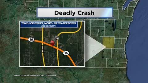 One dead after head-on crash in Dodge County
