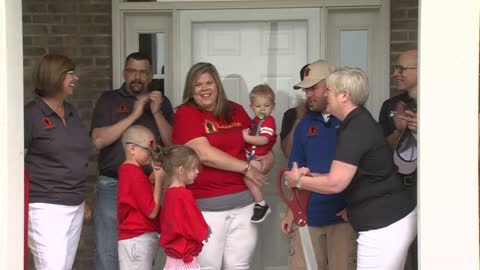 """Overwhelming in a good way:"" Local veteran, family receive brand new home thanks to  'Operation Finally Home'"