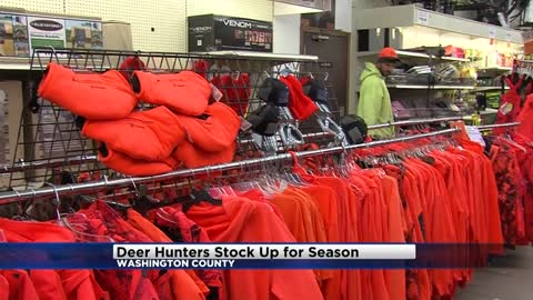 "Deer hunters stock up for hunting season on ""Orange Friday"""