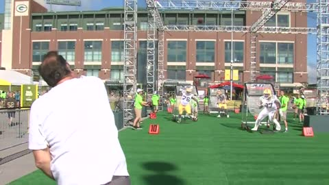 Lambeau Field parking lot transforms into Packers Experience to kick off 100th season