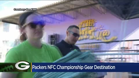 Packers pre-printed NFC Champions gear to be sent abroad to help...