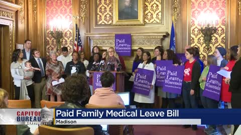 Democratic lawmakers push for paid family leave to become law...