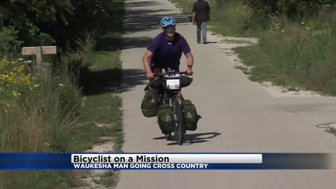 Waukesha man departs for cross country bicycle trip to fight disease that took both his parents