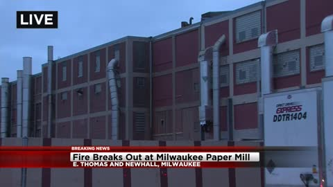 UPDATE: No one hurt after fire breaks out at Wisconsin Paperboard Corp.