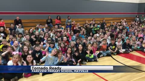 Tornado Ready at Parkview Primary in Mayville