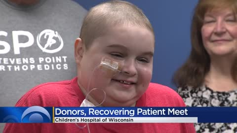 Children's Hospital patient meets donors who helped save his...