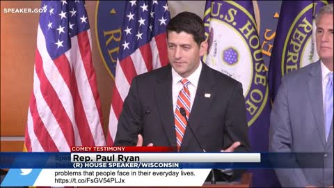 Congressman Ryan says President Trump didn't know any better when communicating with FBI Director