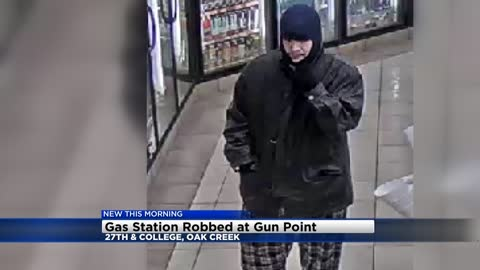 Oak Creek looking for PDQ robbery suspect, armed with a semi-automatic handgun