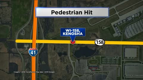 Pedestrian hit by car in Kenosha