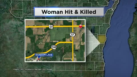 Pedestrian struck and killed north of Random Lake Thursday night