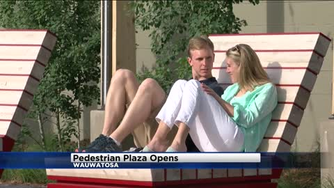 Pedestrian Plaza now open near 69th and North in Wauwatosa