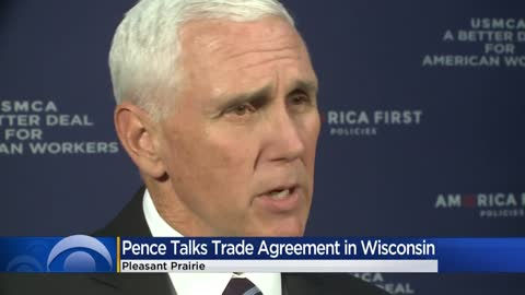 Vice President Pence pushes trade deal during Pleasant Prairie...