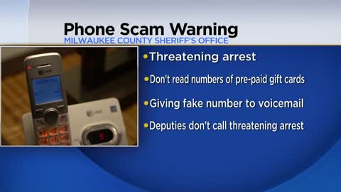 Milwaukee County Sheriff warning of phone scam targeting medical...
