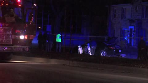 Car chase ends in crash, one person hurt