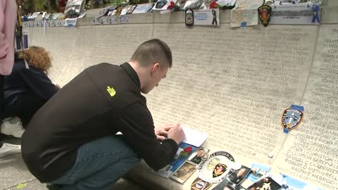 Milwaukee Police honor fallen officers at Law Enforcement Memorial Wall