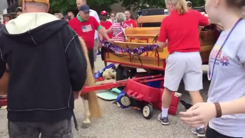 Ponies break free, injuring 3, at Elm Grove Memorial Day parade