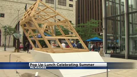 Sculpture Milwaukee holds pop-up lunch on first day of summer