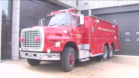 Port Washington Fire Department donating fire truck