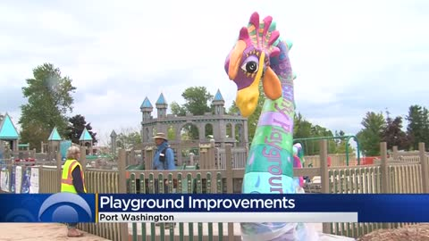 Possibility Playground under construction, volunteers working to make it even more accessible