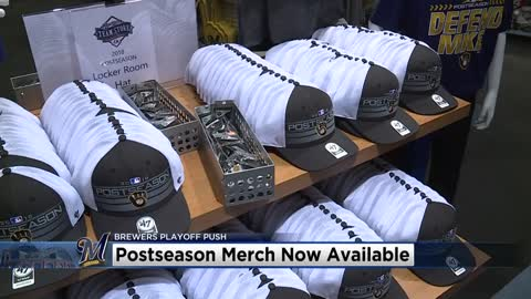 Postseason Brewers apparel is starting to fly off the shelves