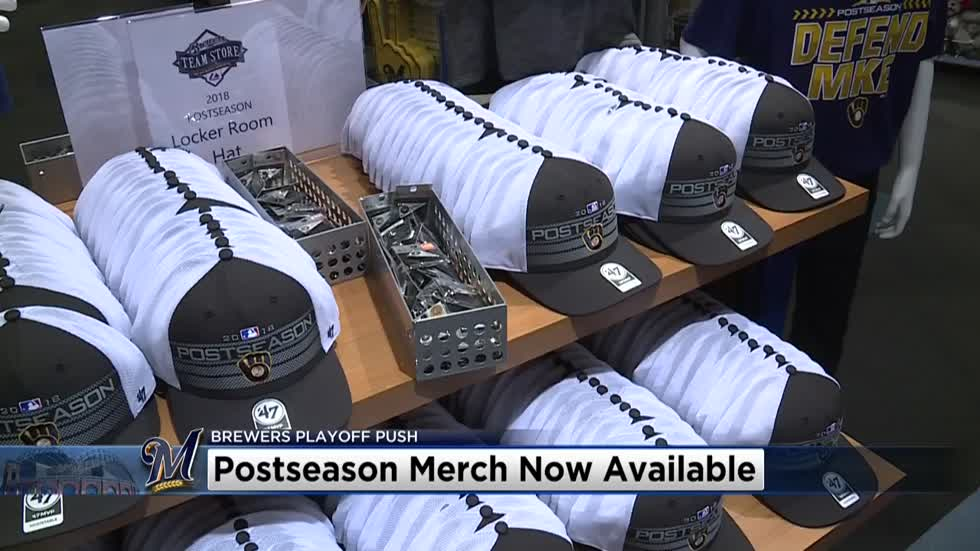 buy cheap fc896 5ee19 Postseason Brewers apparel is starting to fly off the shelves