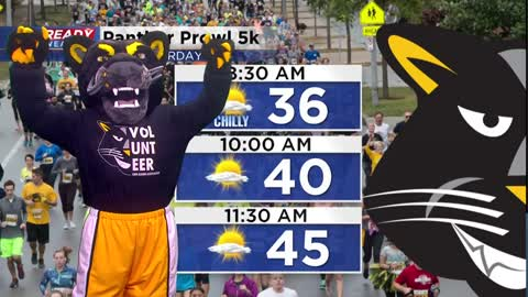 Pounce Panther visits CBS 58 ahead of UW-Milwaukee Panther Prowl 5K