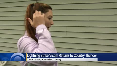 Woman struck by lightning at Country Thunder returns to festival...