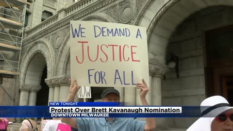 Protest over Brett Kavanaugh nomination held in downtown Milwaukee