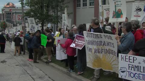 Protestors hold rally to keep families together