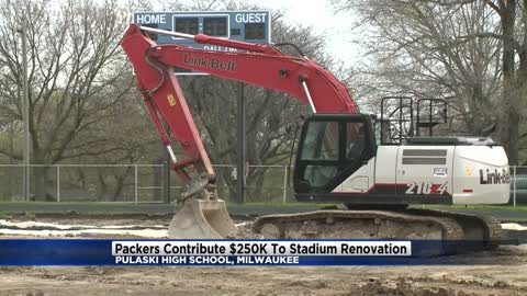 Green Bay Packers contribute $250K to stadium renovation at Pulaski High School