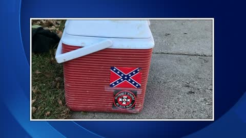 Rally held to condemn contractor displaying KKK logo on lunchbox