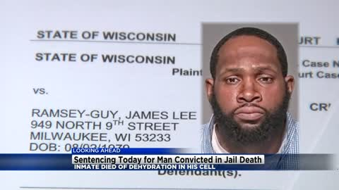 Former Milwaukee correctional officer to be sentenced in case of inmate dehydration death