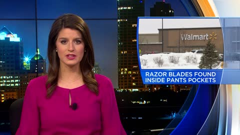 Razor blades found inside new pair of pants at Walmart New Berlin