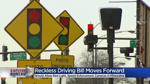 Bill allowing Milwaukee to utilize red light, speed enforcement cameras takes step forward