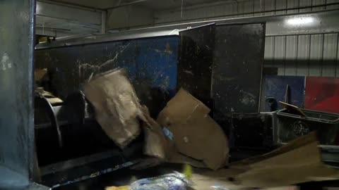 """It's overwhelming:"" Local recycling centers extremely busy after holiday shipping season"