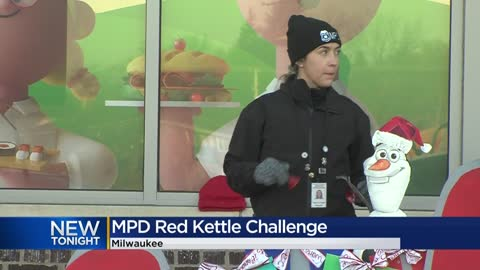 MPD participates in Salvation Army red kettle challenge