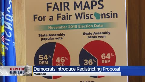 Wisconsin Democrats promote new redistricting plan