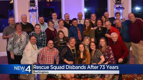 Emotional send-off for Burlington Rescue Squad as it disbands, merges with city fire department