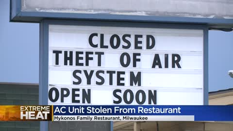 Mykonos Family Restaurant closes because thieves steal AC unit