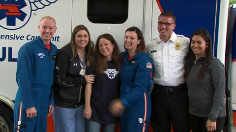 Woman reunited with team who saved her after car crash in Kenosha