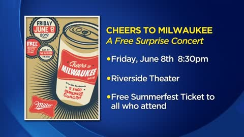 Miller Brewing, Riverside Theater team up to host free concert