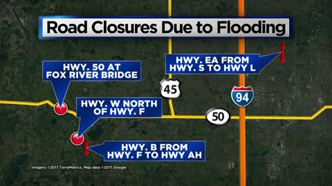 Kenosha County Highways Department working to reopen road closures