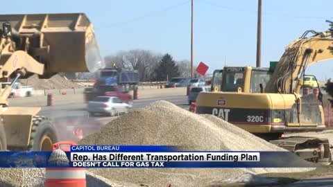 Representative has transportation funding plan which doesn't call for gas tax