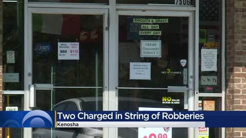 Two accused of robbing businesses at knifepoint in four-day spree