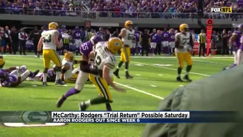 McCarthy: Aaron Rodgers could return to practice Saturday