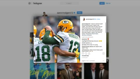 Aaron Rodgers posts picture of Randall Cobb following Cowboys...