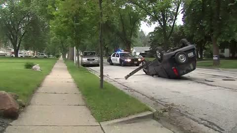 No one hurt in rollover crash near Clement Ave and Waterford Ave.