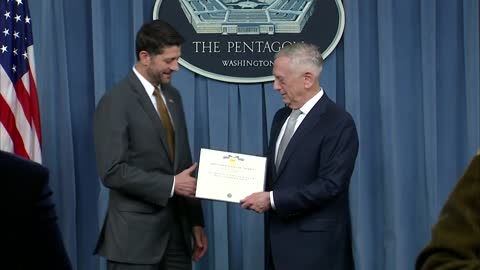 Department of Defense honors Speaker Ryan for his military support