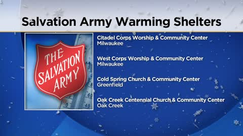 Salvation Army offering warming shelters during extreme cold