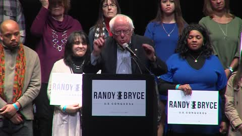 Senator Bernie Sanders stumps for democratic iron worker Randy Bryce in Racine